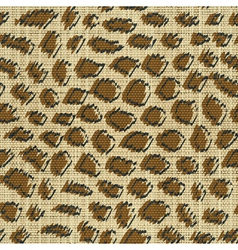 leopard skin print vector image