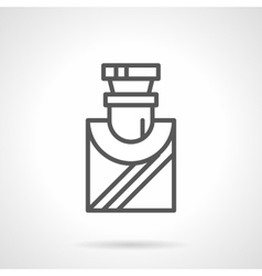 Mens perfumes simple line icon vector
