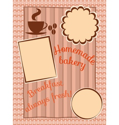 Menu for breakfast vector image vector image