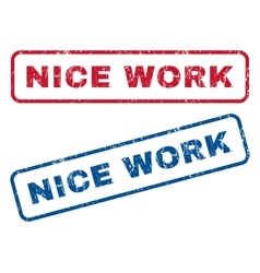 Nice Work Rubber Stamps vector image