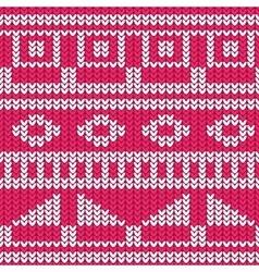 Seamless knitted pattern christmas sweater design vector