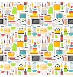 Seamless pattern with kitchen tools vector