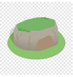 Sigiriya rock sri lanka isometric icon vector
