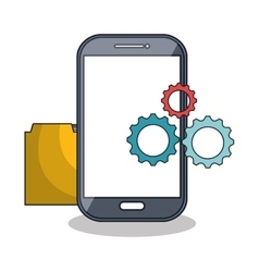smartphone technology settings icon vector image
