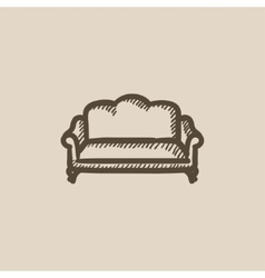 Sofa sketch icon vector image vector image