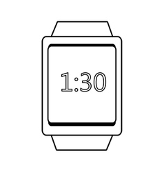 Square watch and time icon graphic vector