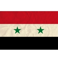 Syria paper flag vector