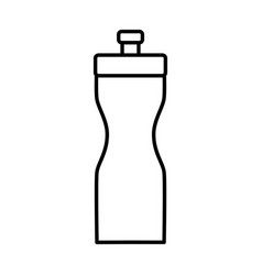 Thermo water bottle vector