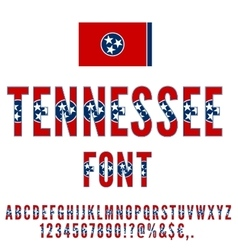 USA state font vector image vector image