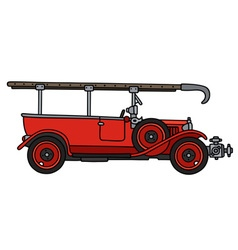 Vintage fire truck vector image vector image