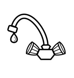 water tap vector image