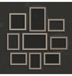 Wooden picture frame set vector image