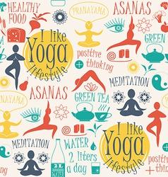 Yoga lifestyleseamless pattern vector