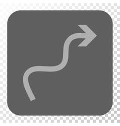 Curve arrow rounded square button vector