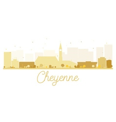 Cheyenne city skyline golden silhouette vector