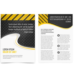 Broshure pages template vector