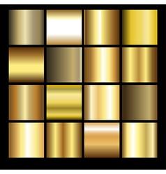 gold gradients vector image