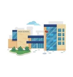 Best school building in flat style design vector