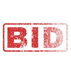 Bid rubber stamp vector