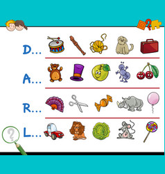 find picture educational game vector image