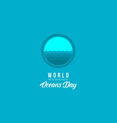banner of world ocean day style vector image