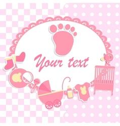 Card for newborn boy vector image