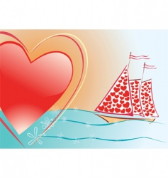 Sails of love vector