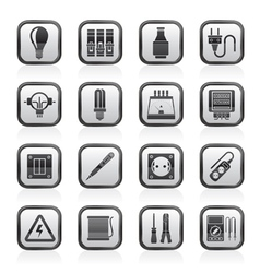 Electrical devices and equipment icons vector image