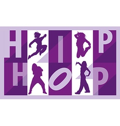 Girls dancing hip hop vector