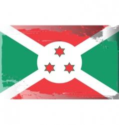 burundi national flag vector image