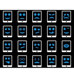 Emotion mobile tablet icons vector