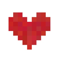 Red pixel heart vector