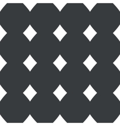 Straight black diamonds pattern vector