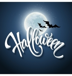 Happy halloween message design background vector