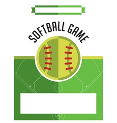 Softball game flyer vector