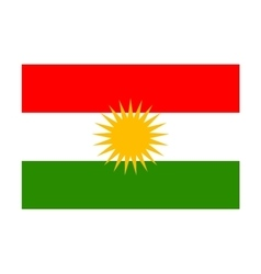 Kurdistan flag vector