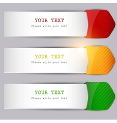 Copy space bookmark vector