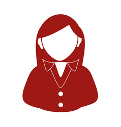 businesswoman avatar silhouette icon vector image