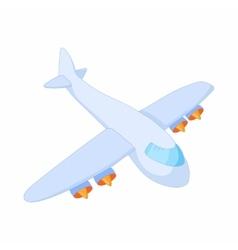 Cargo plane icon cartoon style vector