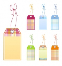 checked labels vector image vector image