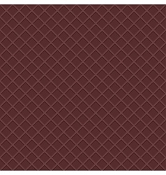 Chocolate waffles seamless background vector
