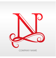 design modern logo letter monogram for business vector image