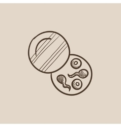 Donor sperm sketch icon vector image vector image