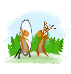 Elk with mirror vector