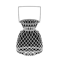 Fishing net icon in black style isolated on white vector image vector image
