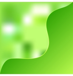 green blurred background vector image vector image
