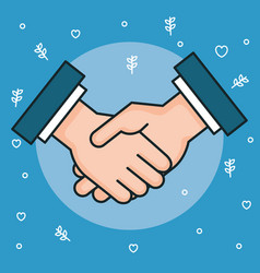 Hands symbol peace hands man handshaking vector
