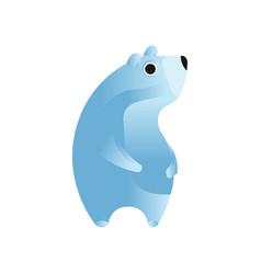 Polar bear stylized geometric animal low poly vector