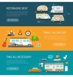 Recreational Vehicle Banners Set vector image