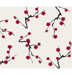 red cherry background vector image vector image